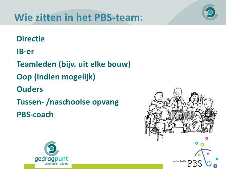 Wie zitten in het PBS-team: