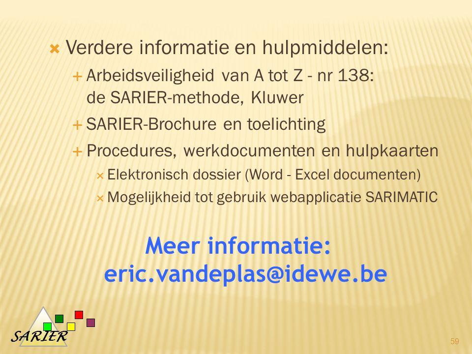 Meer informatie: eric.vandeplas@idewe.be