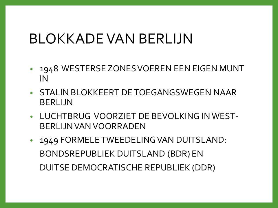 BLOKKADE VAN BERLIJN 1948 WESTERSE ZONES VOEREN EEN EIGEN MUNT IN