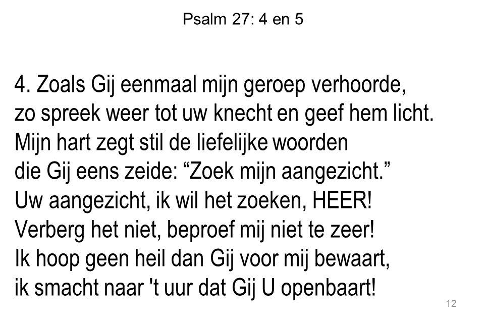 Psalm 27: 4 en 5