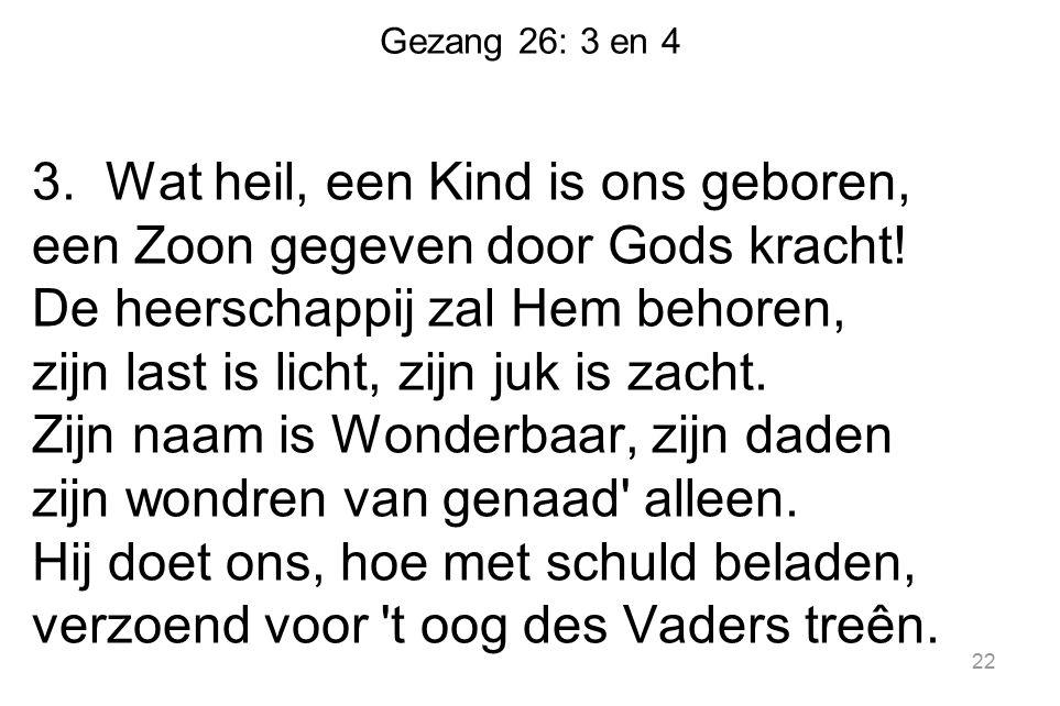 Gezang 26: 3 en 4