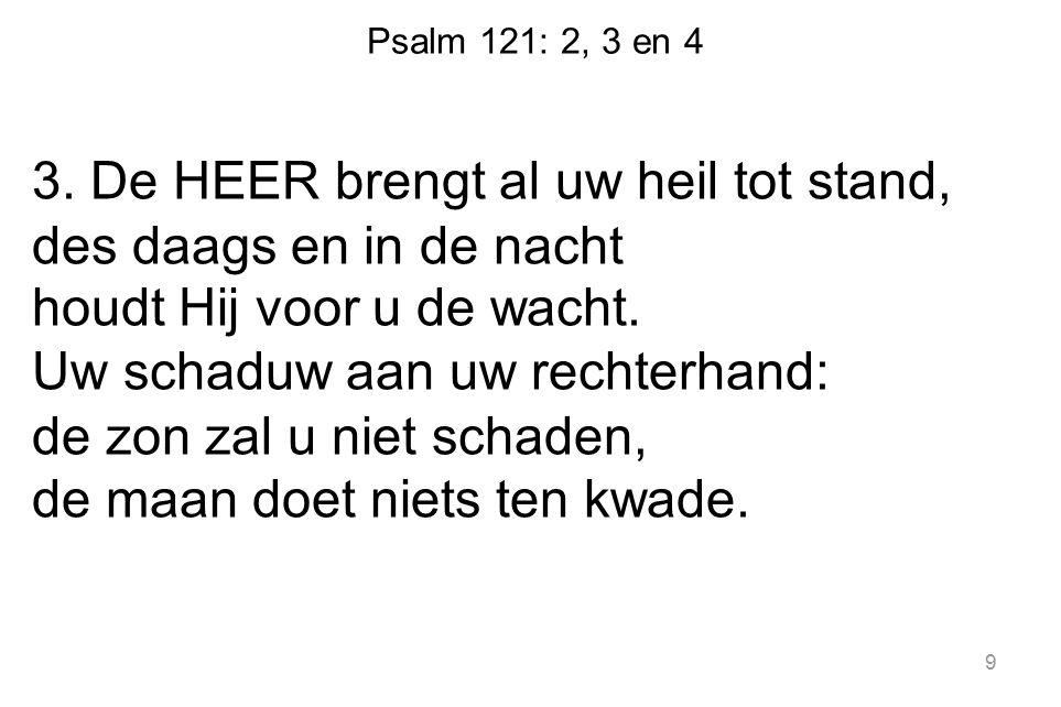 Psalm 121: 2, 3 en 4