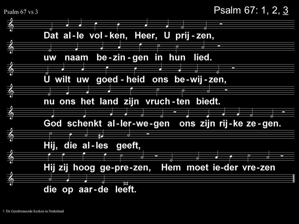 Psalm 67: 1, 2, 3