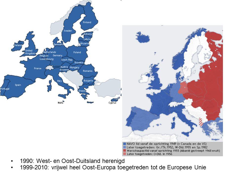 1990: West- en Oost-Duitsland herenigd