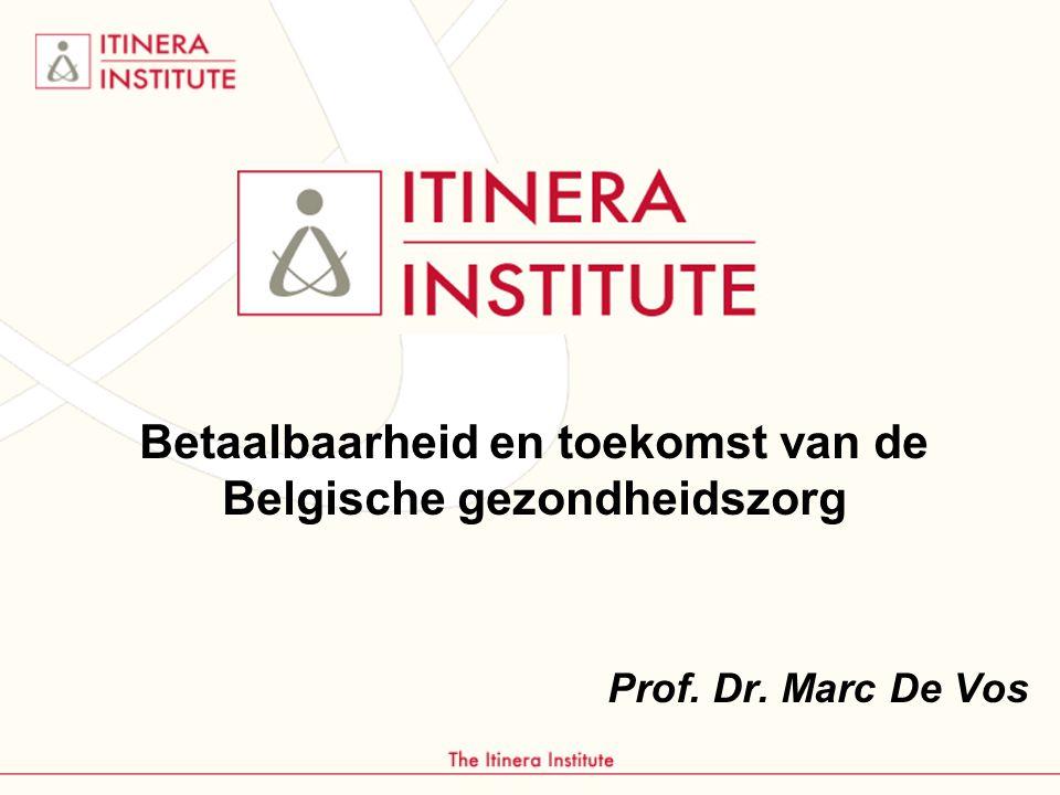 Betaalbaarheid en toekomst van de Belgische gezondheidszorg