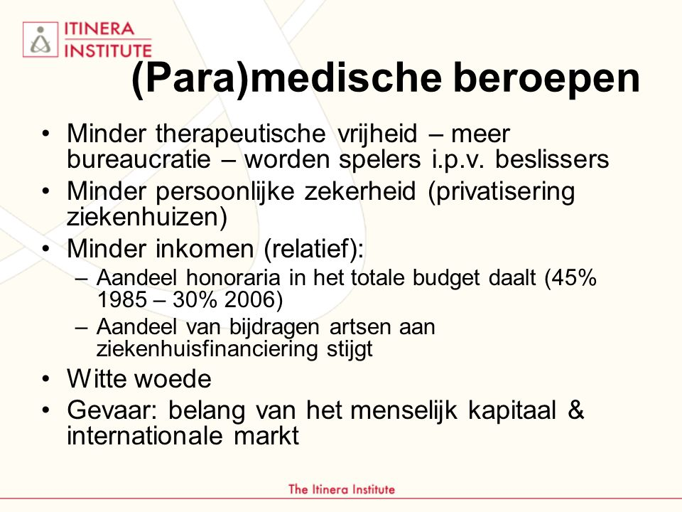 (Para)medische beroepen