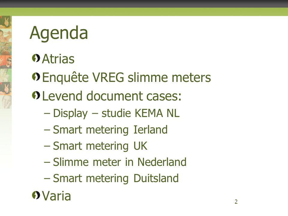 Agenda Atrias Enquête VREG slimme meters Levend document cases: Varia