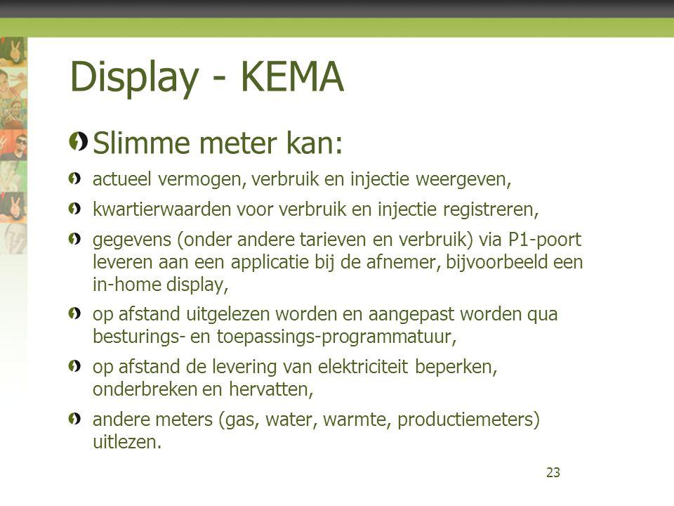 Display - KEMA Slimme meter kan: