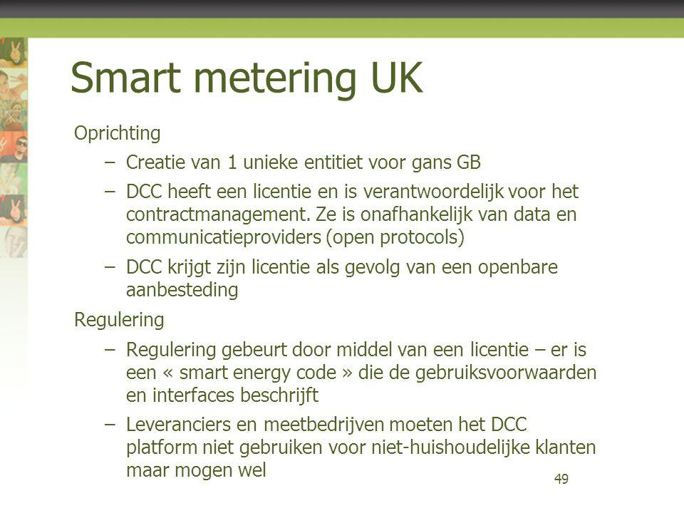 Smart metering UK Oprichting