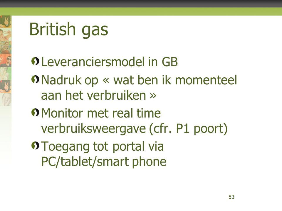British gas Leveranciersmodel in GB