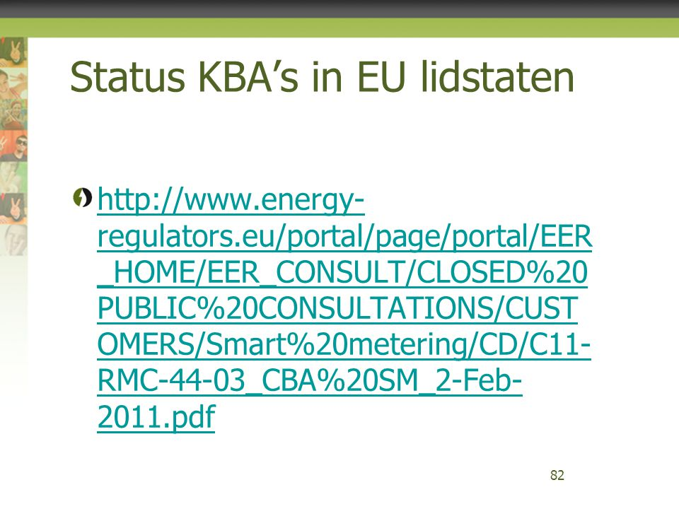 Status KBA's in EU lidstaten