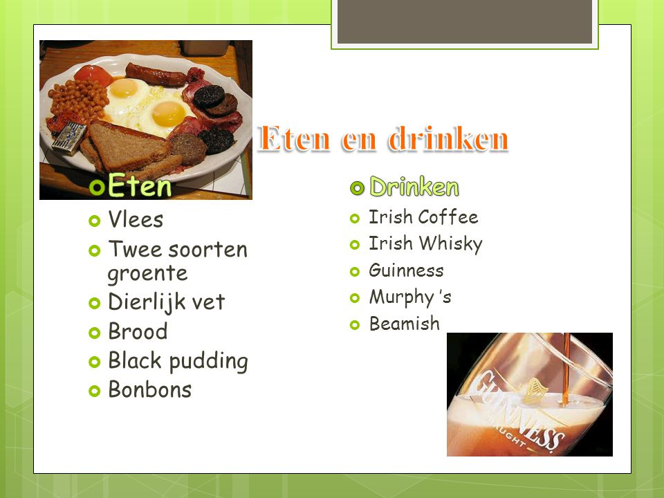 Eten en drinken Eten Drinken Vlees Twee soorten groente Dierlijk vet