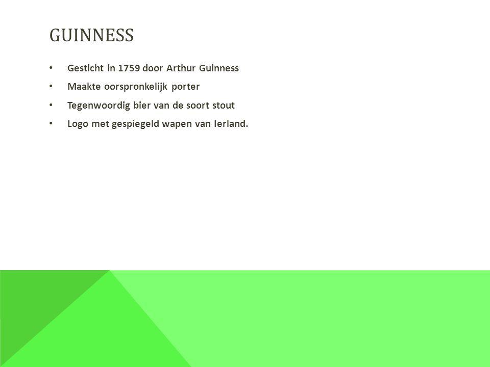 guinness Gesticht in 1759 door Arthur Guinness