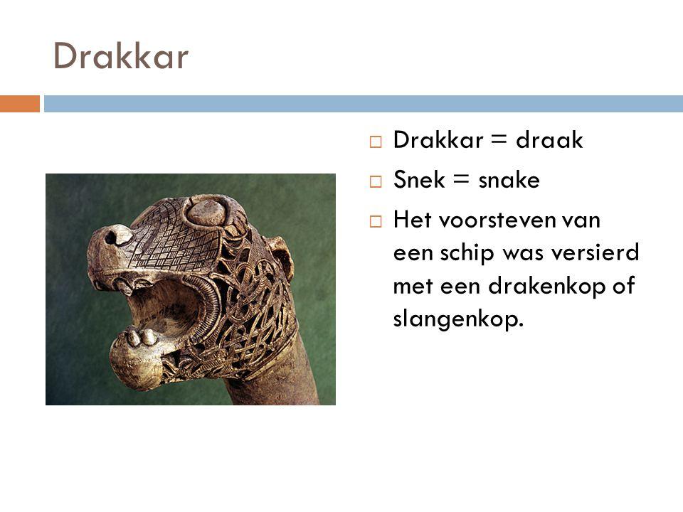 Drakkar Drakkar = draak Snek = snake