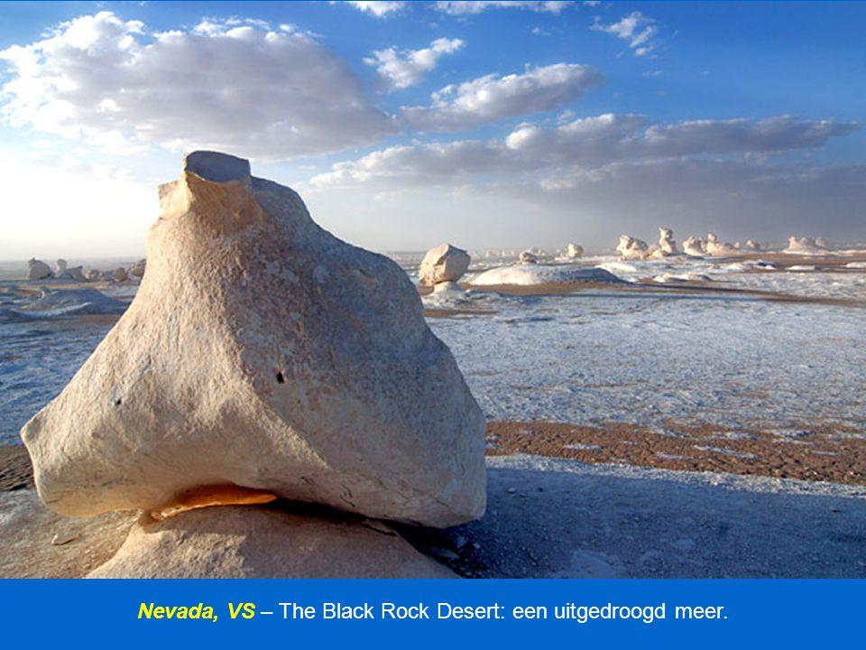 Nevada, VS – The Black Rock Desert: een uitgedroogd meer.