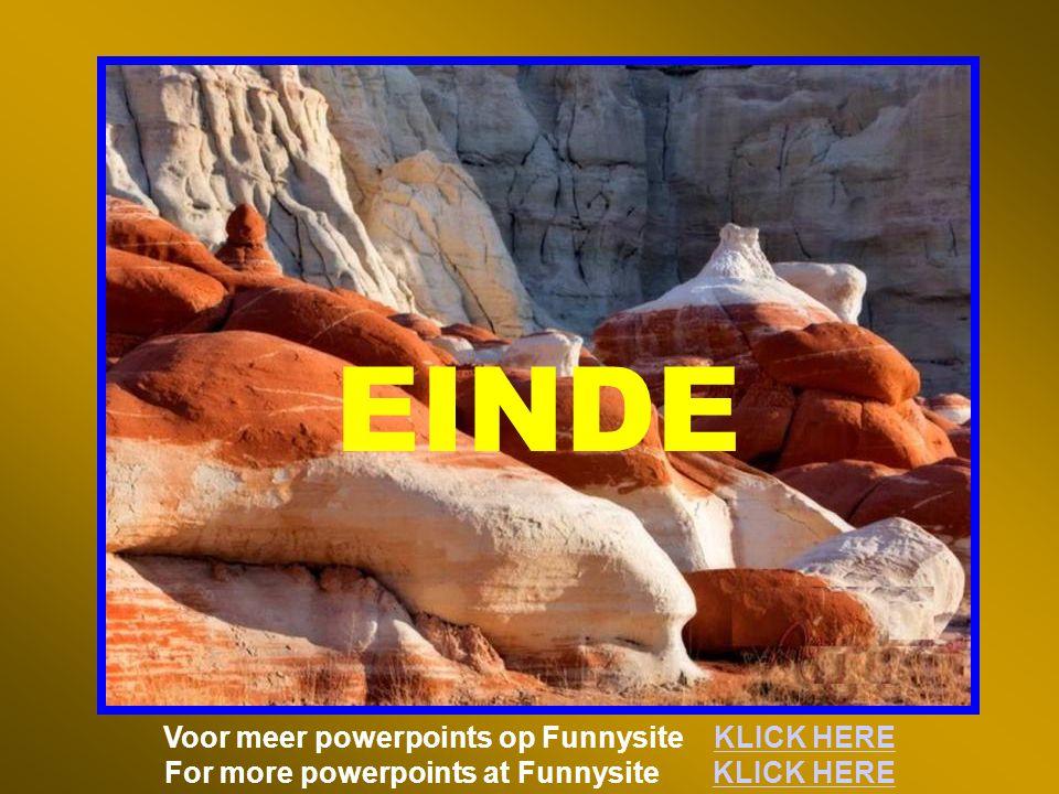 EINDE Voor meer powerpoints op Funnysite KLICK HERE