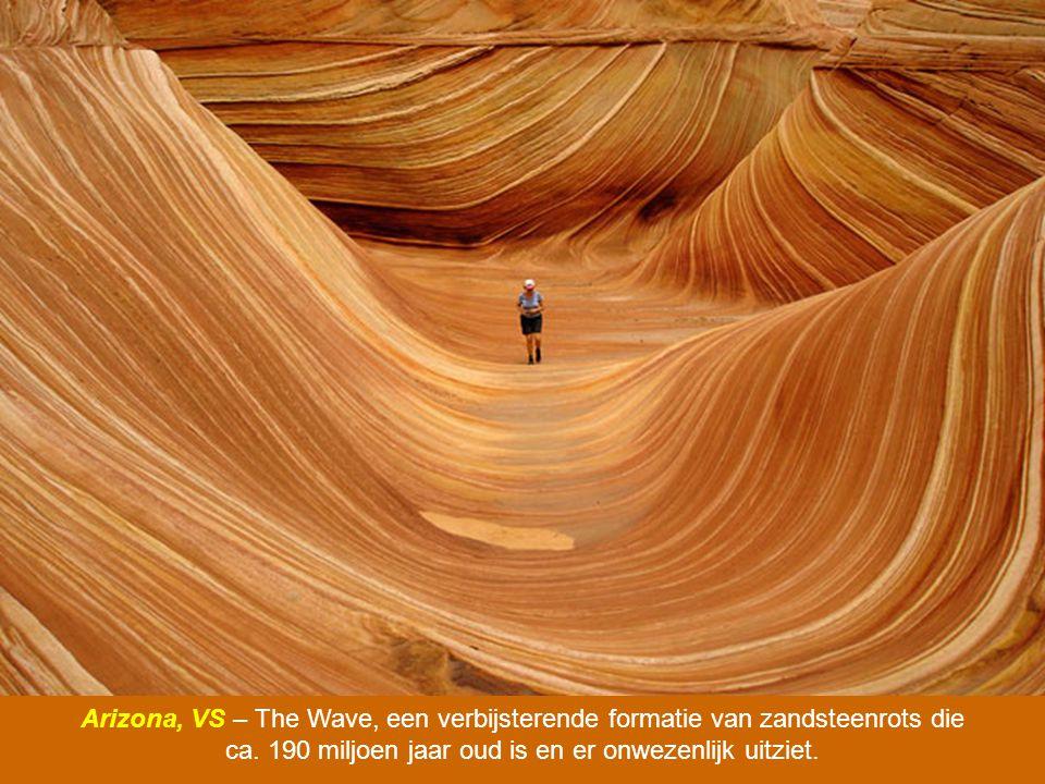 Arizona, VS – The Wave, een verbijsterende formatie van zandsteenrots die ca.