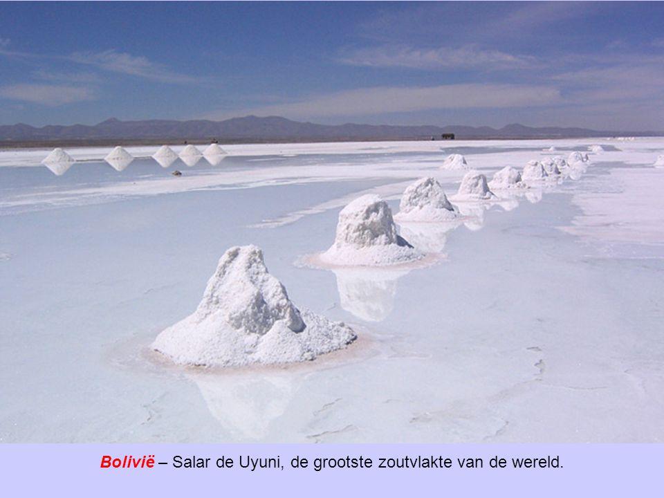 Bolivië – Salar de Uyuni, de grootste zoutvlakte van de wereld.