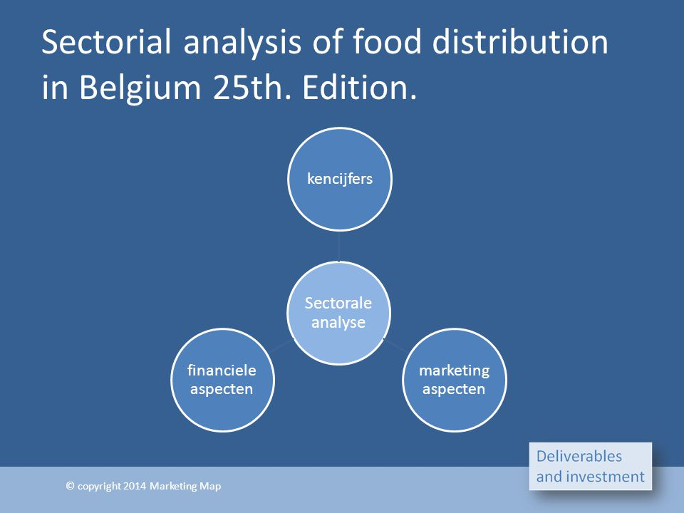 Sectorial analysis of food distribution in Belgium 25th. Edition.