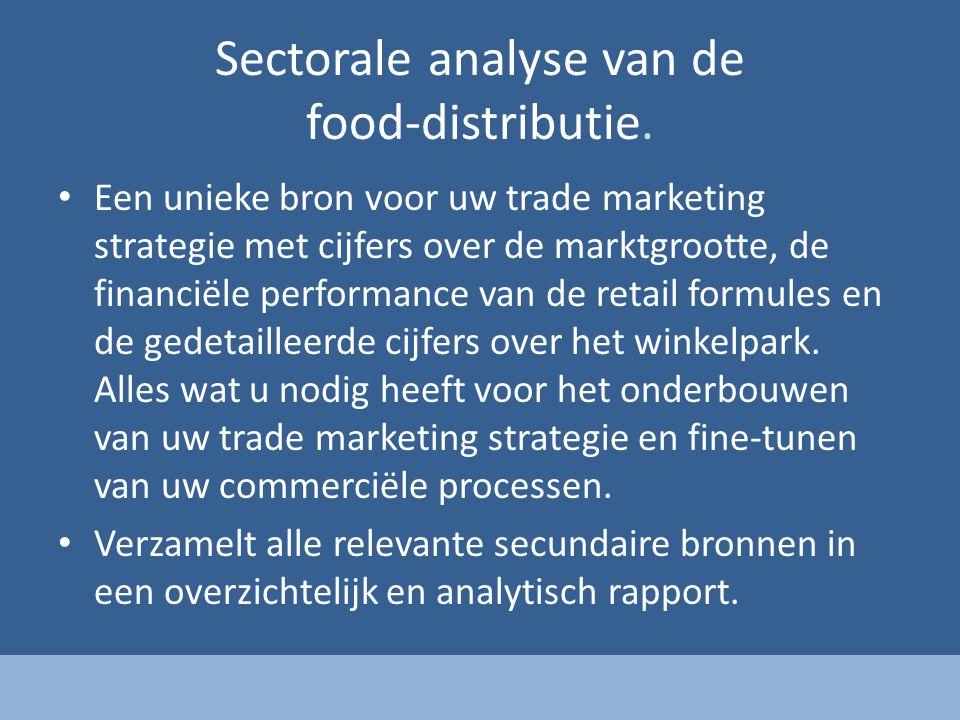 Sectorale analyse van de food-distributie.