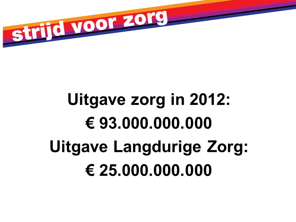 Uitgave Langdurige Zorg: