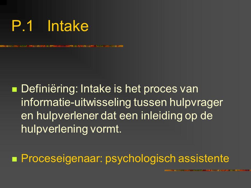 P.1 Intake