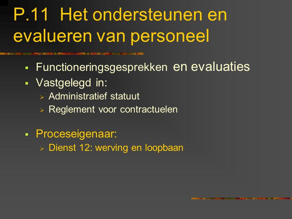 P.11 Het ondersteunen en evalueren van personeel