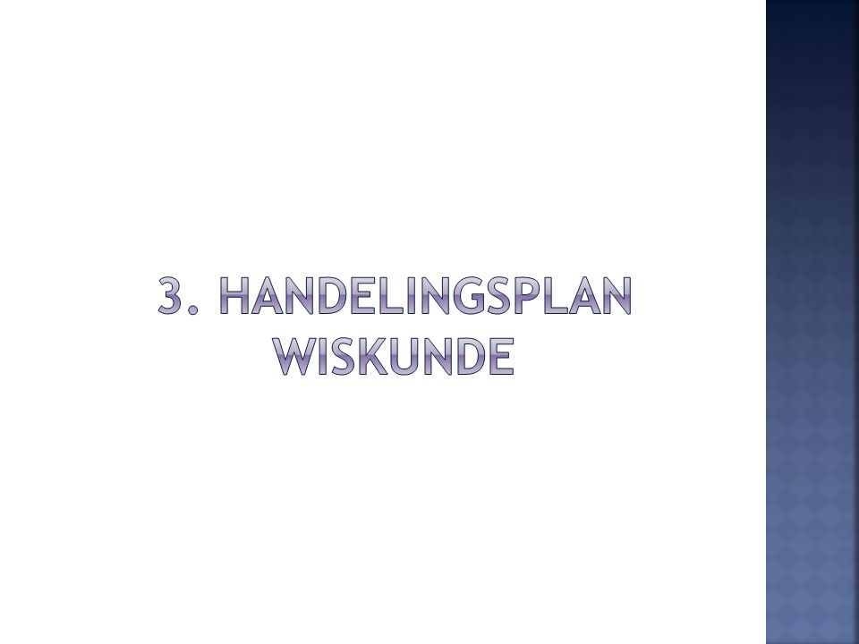 3. Handelingsplan wiskunde
