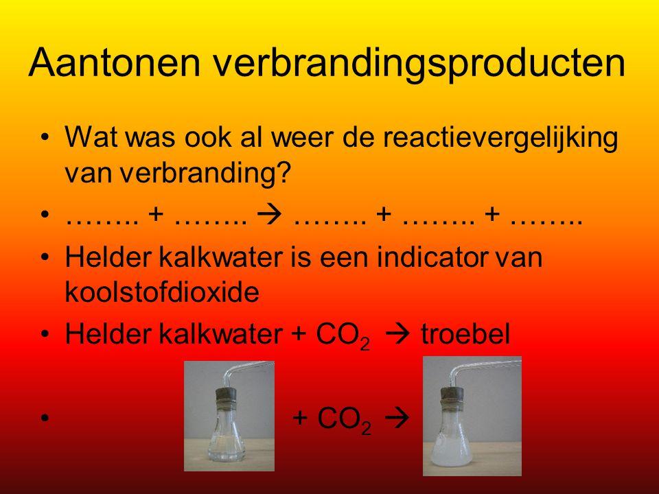 Aantonen verbrandingsproducten