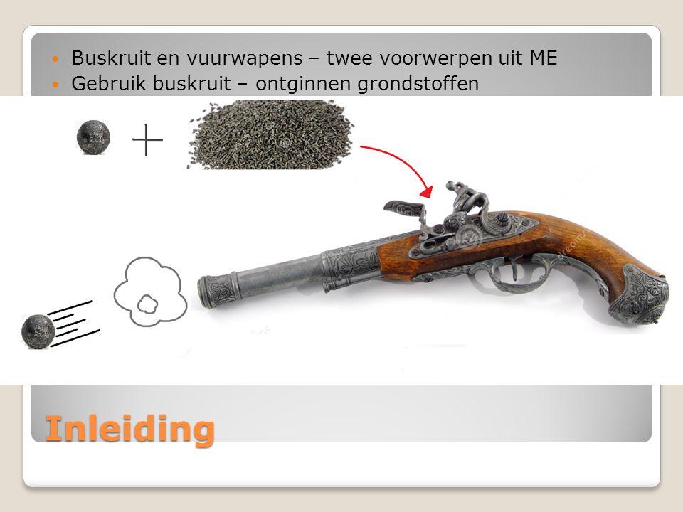 Inleiding Buskruit en vuurwapens – twee voorwerpen uit ME