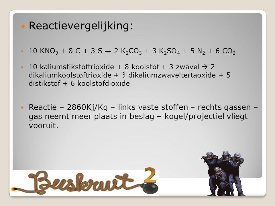 2 Reactievergelijking: