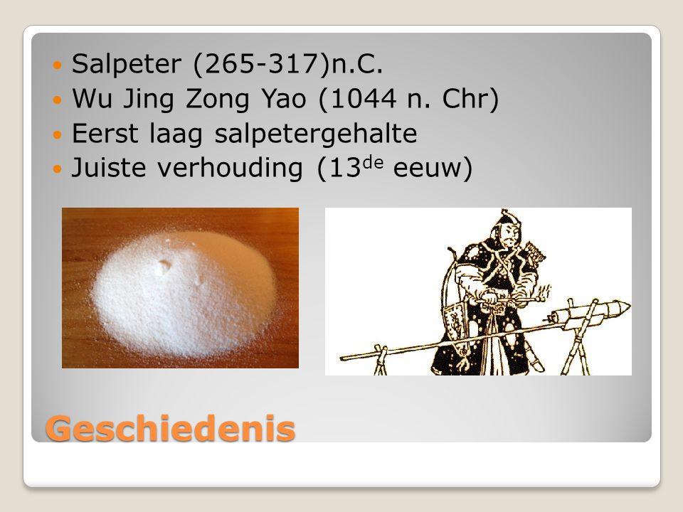 Geschiedenis Salpeter (265-317)n.C. Wu Jing Zong Yao (1044 n. Chr)