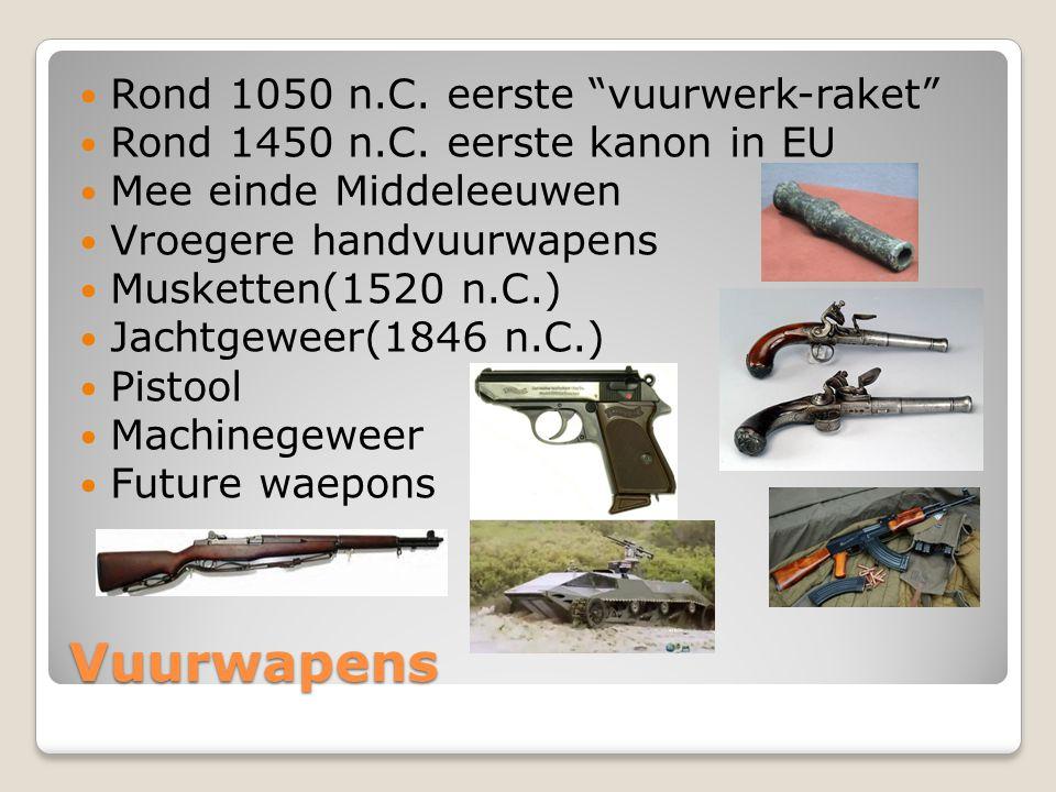 Vuurwapens Rond 1050 n.C. eerste vuurwerk-raket