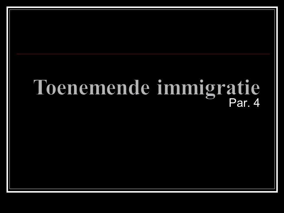 Toenemende immigratie