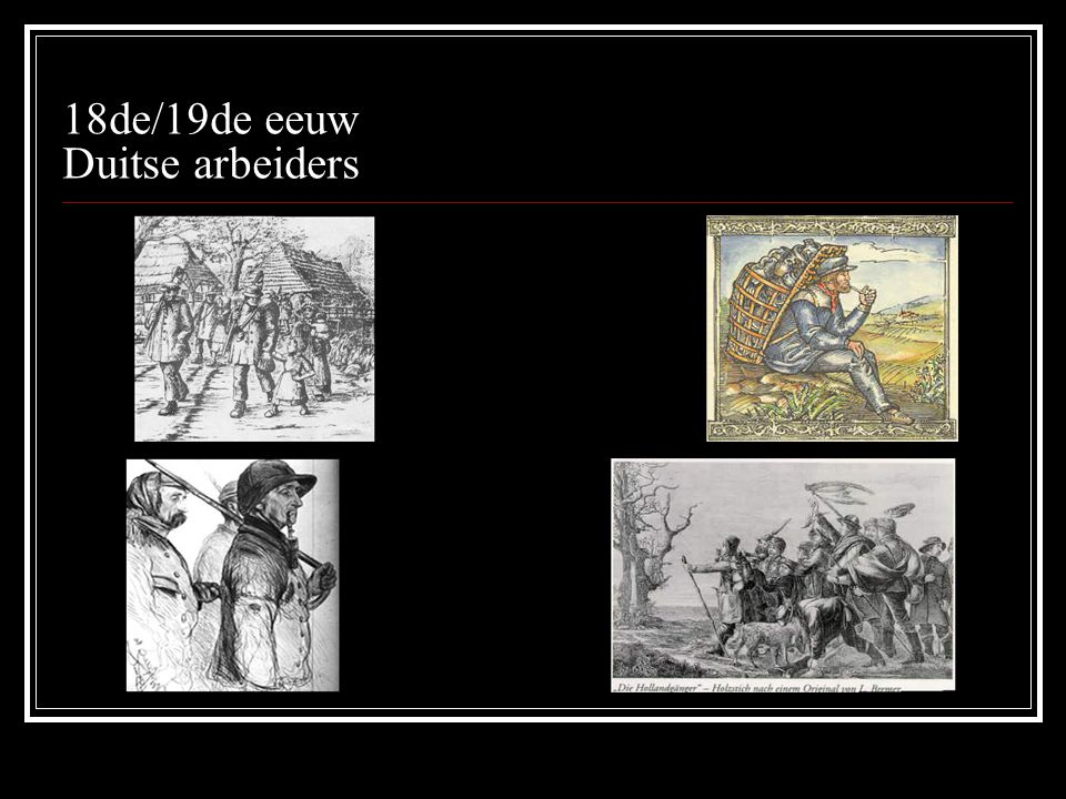 18de/19de eeuw Duitse arbeiders