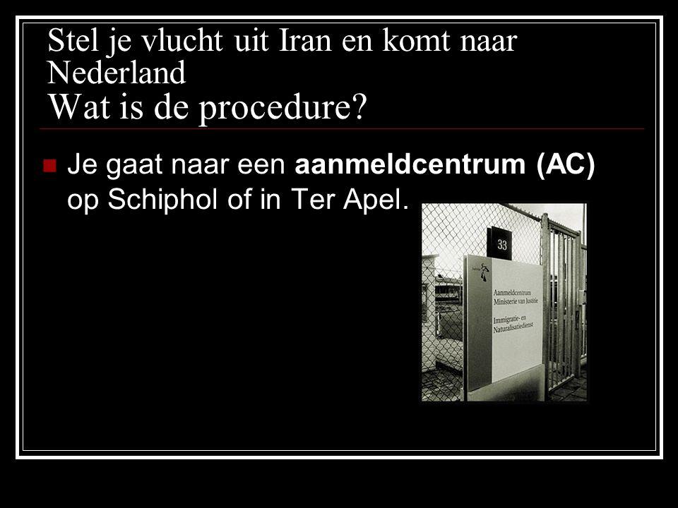 Stel je vlucht uit Iran en komt naar Nederland Wat is de procedure