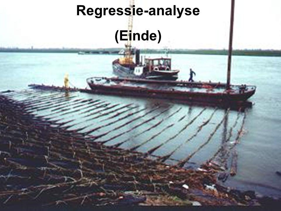 Regressie-analyse (Einde)