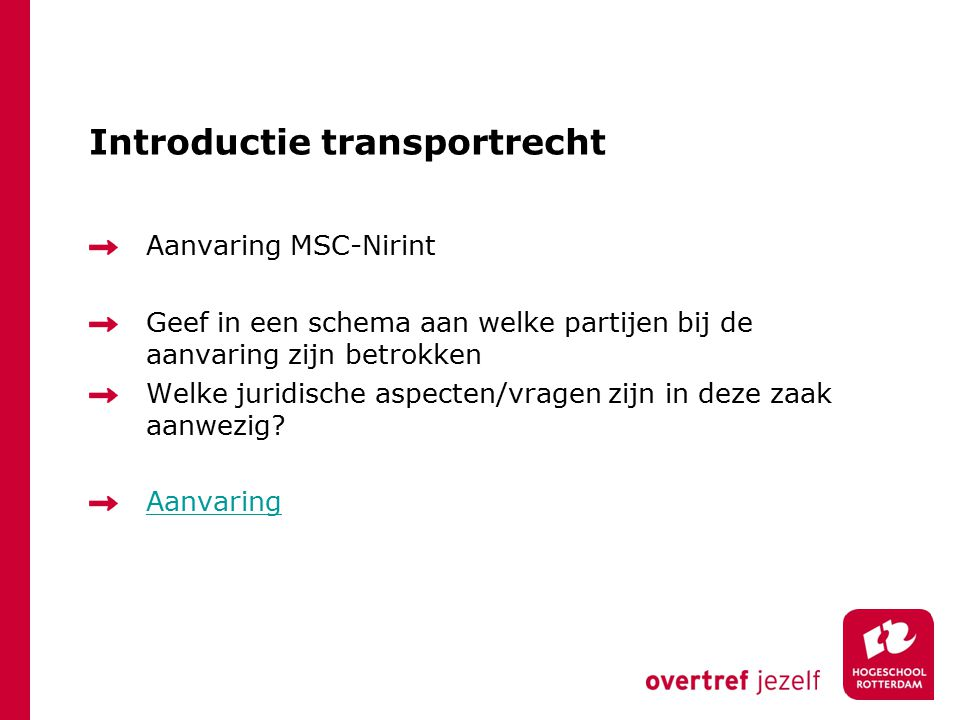 Introductie transportrecht
