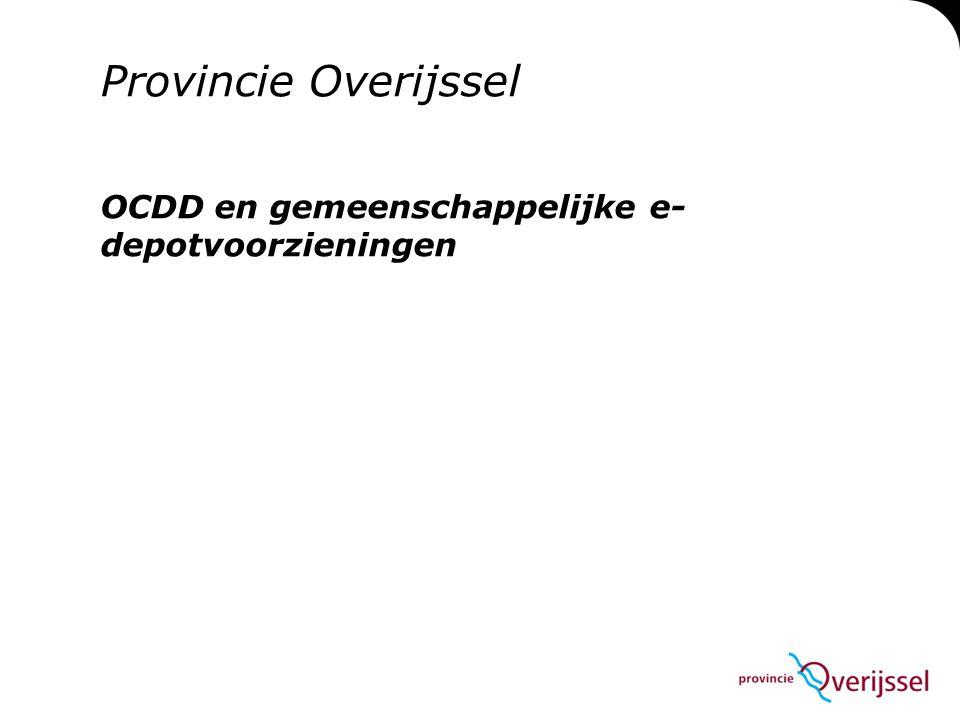 OCDD en gemeenschappelijke e-depotvoorzieningen