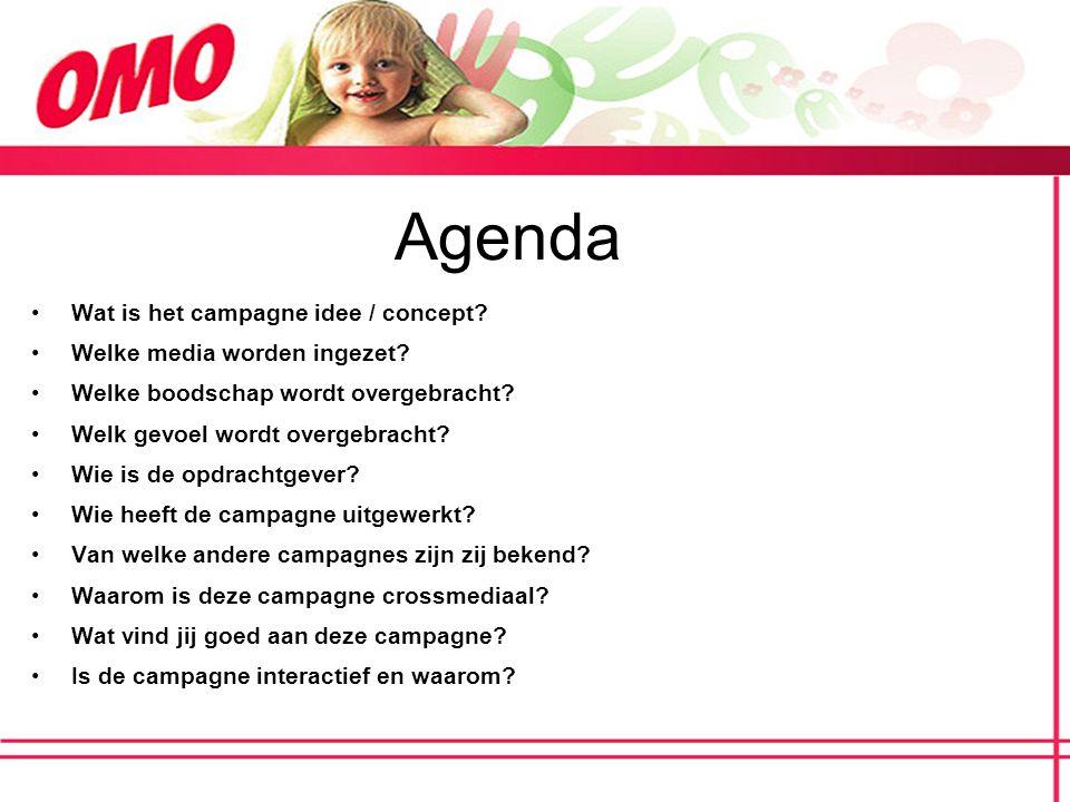 Agenda Wat is het campagne idee / concept Welke media worden ingezet