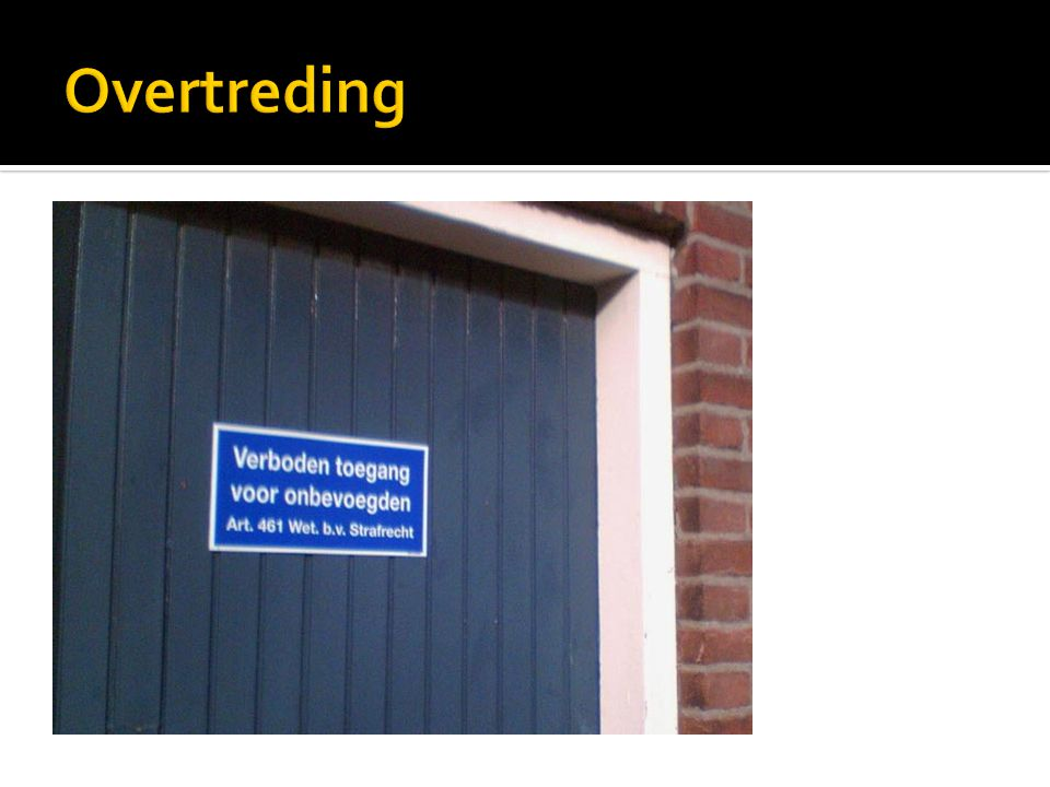 Overtreding