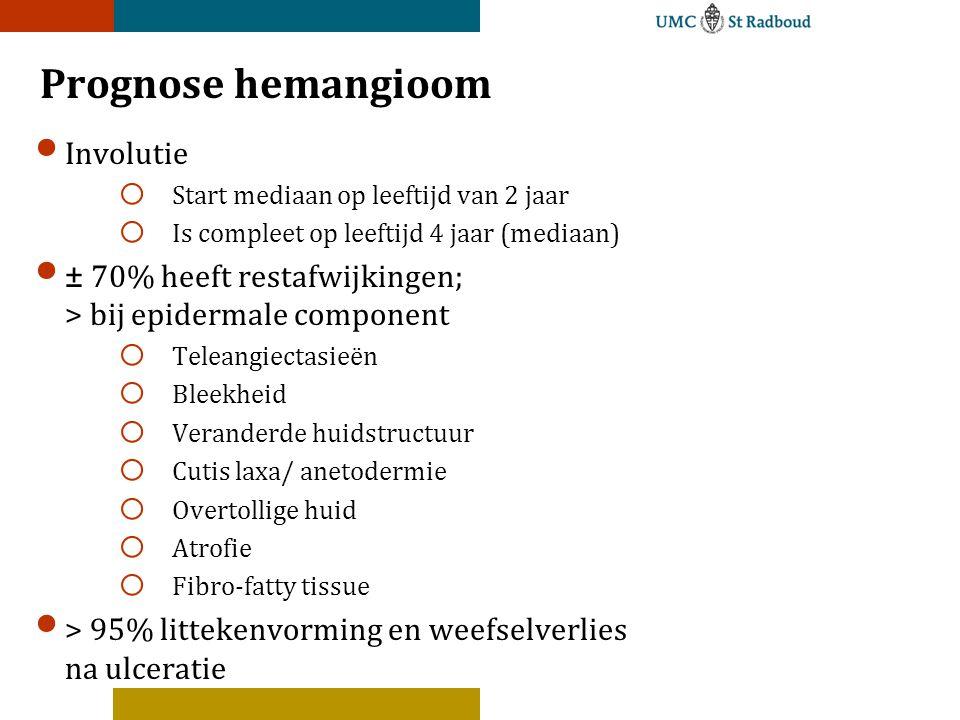Prognose hemangioom Involutie
