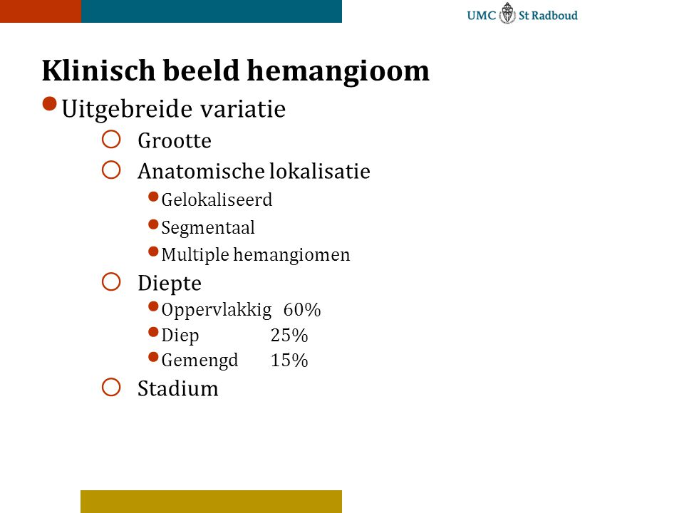 Klinisch beeld hemangioom