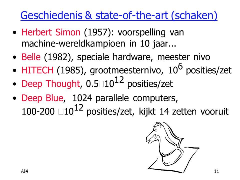 Geschiedenis & state-of-the-art (schaken)