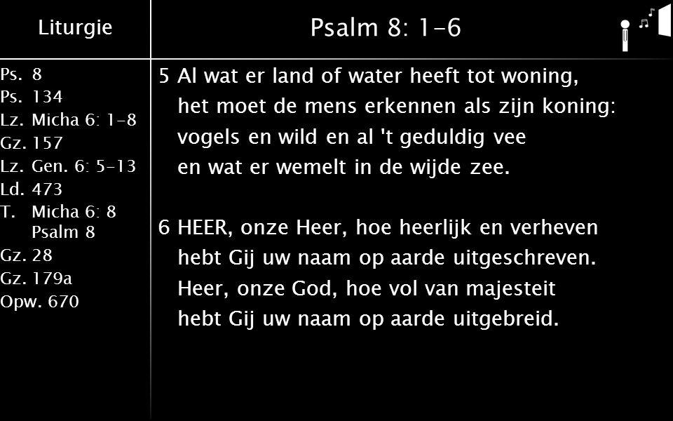Psalm 8: 1-6