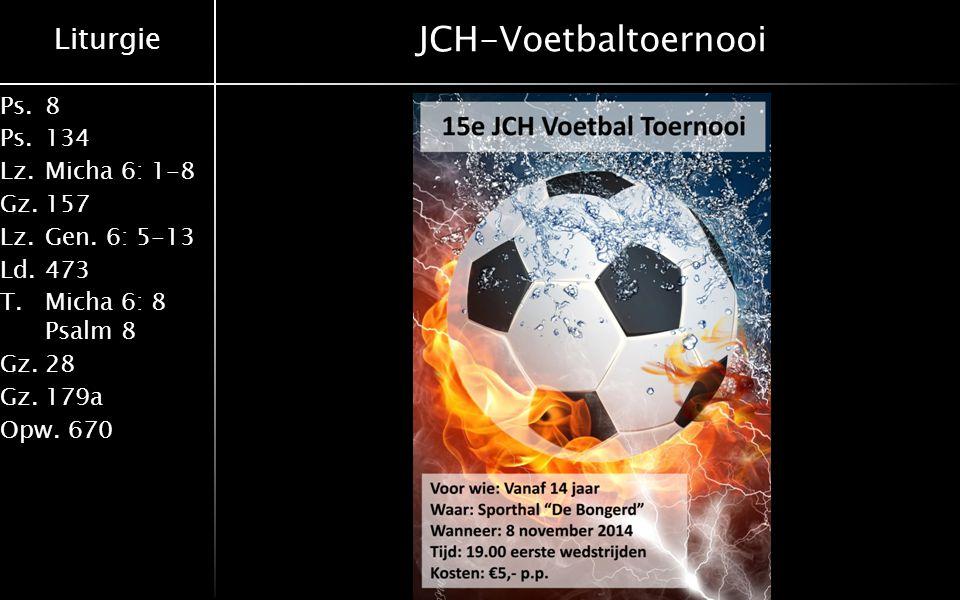 JCH-Voetbaltoernooi 19-10-2014 Derk Rouwhorst