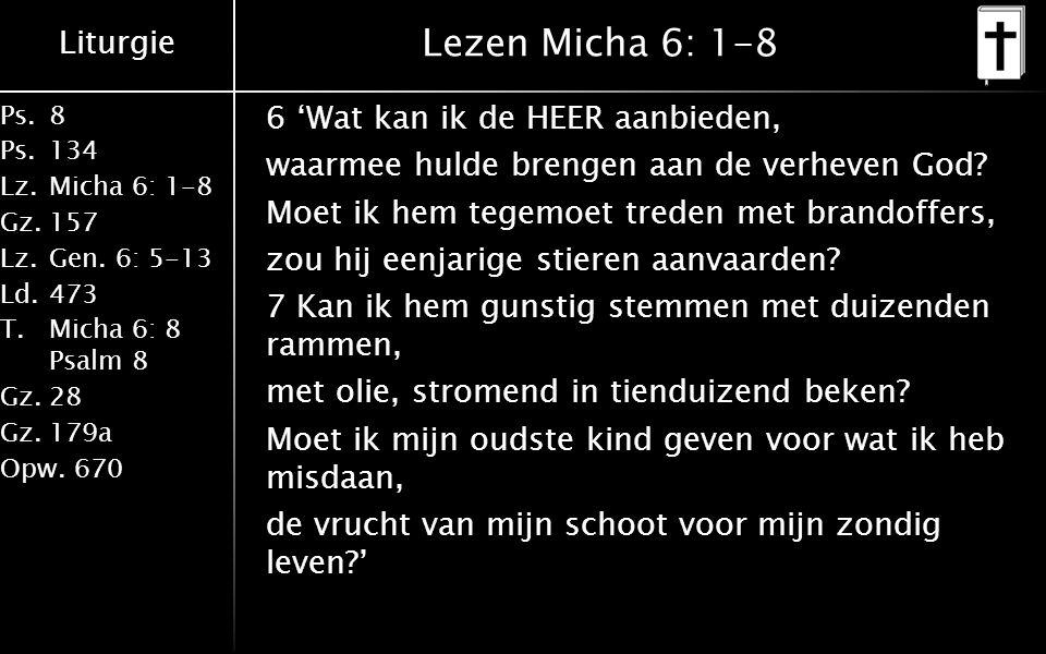 Lezen Micha 6: 1-8