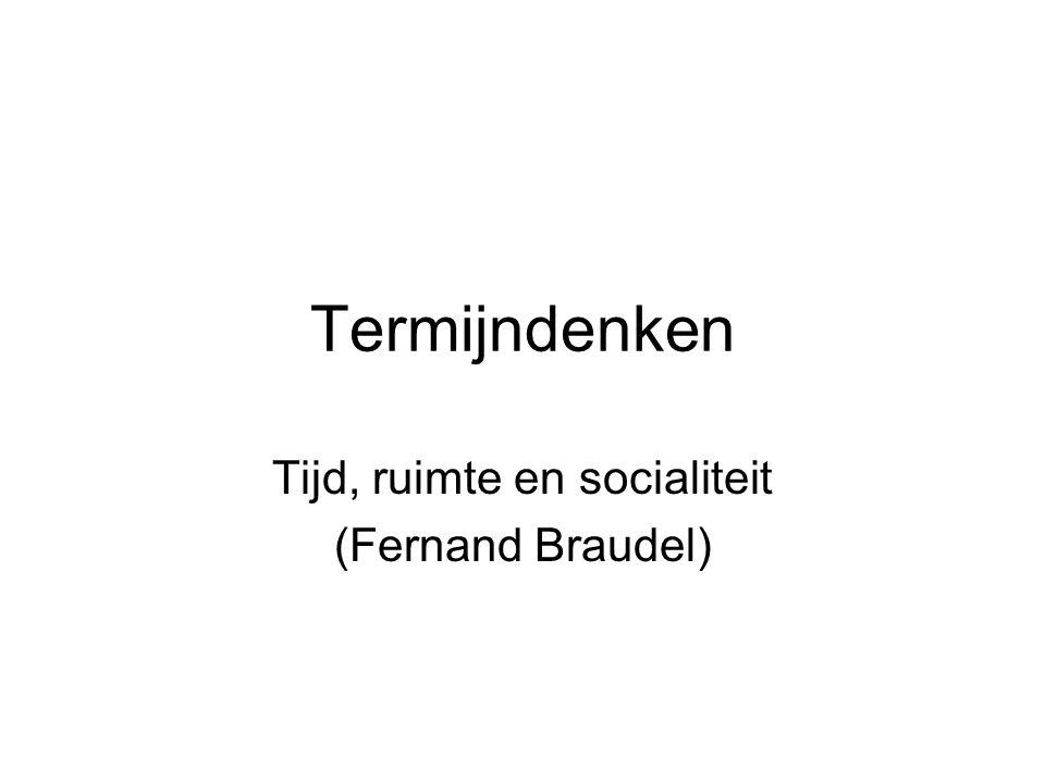 Tijd, ruimte en socialiteit (Fernand Braudel)