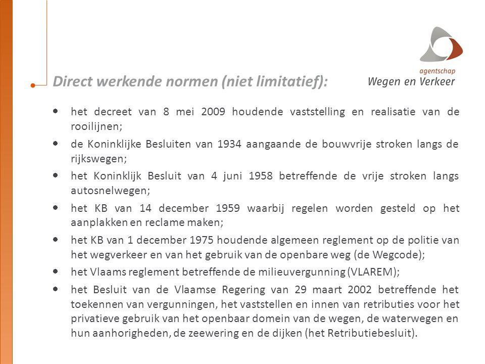 Direct werkende normen (niet limitatief):