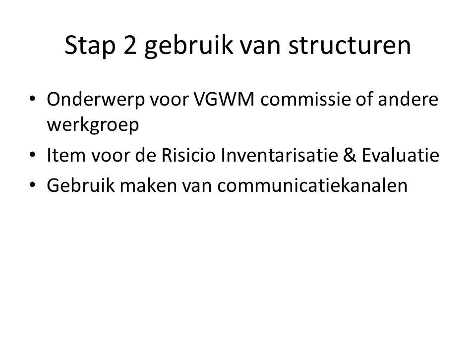 Stap 2 gebruik van structuren